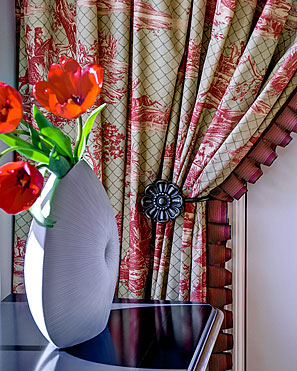 InterSpace Design - Close-up of Design on Drapes